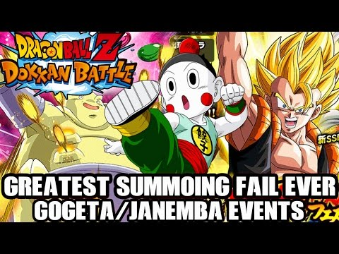 MULTI SUMMON DOKKAN FESTIVAL!! Gogeta & Janemba FAIL FAIL FAIL! - Dragon Ball Z Dokkan Battle