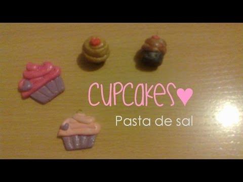 CupCakes con Pasta de sal | 3 Maneras de pintar tus figuras | Figuras de masa fl