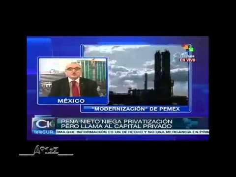 TeleSur informa sobre Pemex. En México callan la noticia.