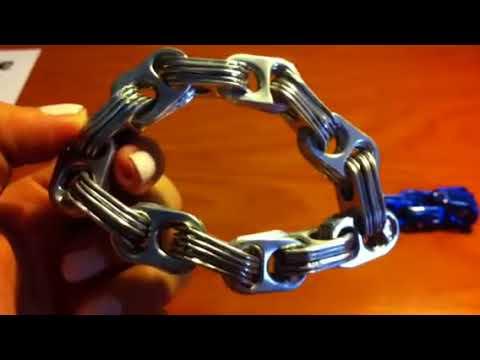 Pulsera de clips o anillas de refresco
