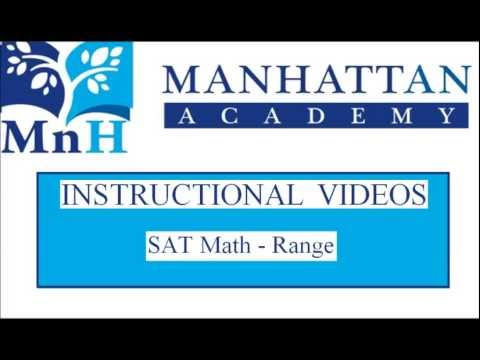Manhattan Academy Instructional Videos - Range - 07/23/2013