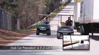 Club Car Precedent Golf Car vs. E-Z Go RXV & TXT and Yamaha Drive