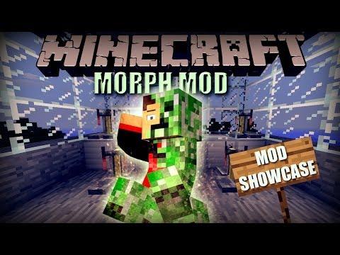 Minecraft: Morph Mod (Morph into ANY Mob / Shape Shifter) Mod Showcase