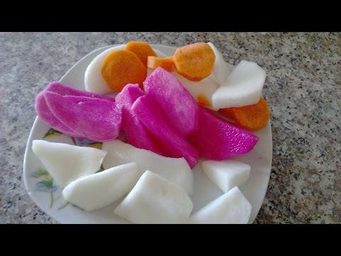 Солим РЕДЬКУ (Лифет) тремя способами(морковь,буряк,перец).