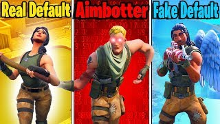 Types of Default Skins in Fortnite - REAL DEFAULT vs AIMBOTTER vs FAKE DEFAULT