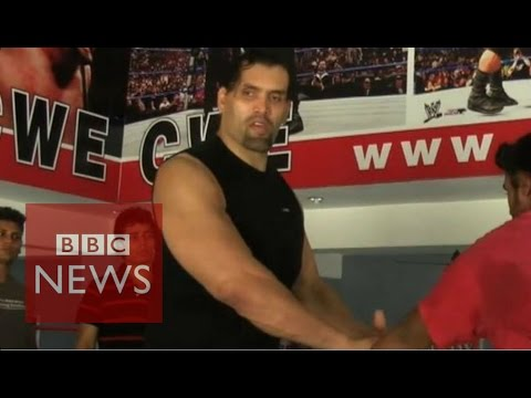 WWE: The Great Khali's Indian homecoming - BBC News