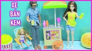 Đồ Chơi Xe Bán Kem Của Búp Bê Barbie - Barbie's ice cream cart |đồ chơi trẻ em - chị bí đỏ