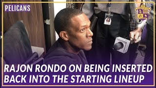 Lakers Post Game: Rajon Rondo on Being Inserted Back into the Starting Lineup
