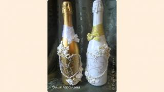 Botellas decoradas boda
