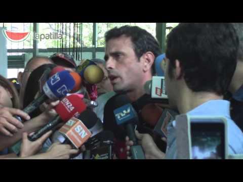 Capriles habla acerca de Leopoldo Lopez y problema fronterizo con Colombia