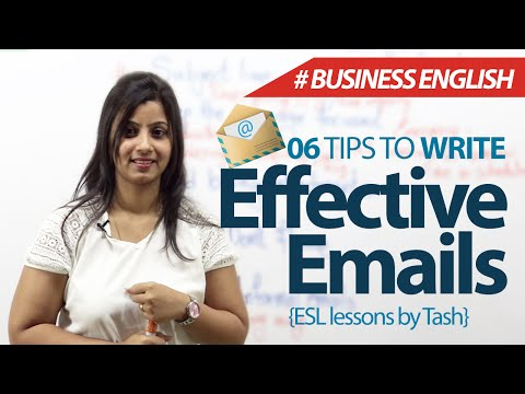 06 Tips To Write Effective Emails – Free Business English & Spoken English Lessons video