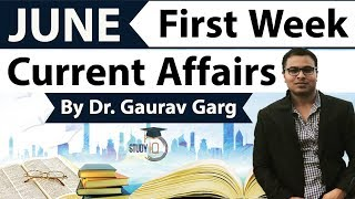 June 2018 current affairs in English first week set 1 - IBPS/SSC CGL/CHSL/LDC/Police/KVS/UGC/CLAT