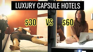 BEST LUXURY Capsule Hotel Experience in Tokyo | First Cabin vs MyCube