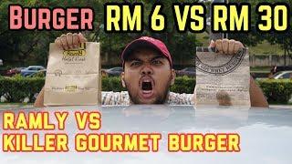 BURGER MURAH VS BURGER MAHAL!!! (Killer Gourmet Burger VS Ramly)