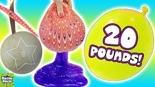 What's Inside Giant Homemade Stress Balls! Huge 20 Pound Slime Balloon! Doctor Squish