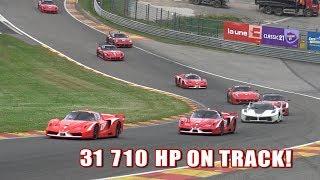 Ferrari Corse Clienti At Spa With 15 FXXK, 16 599XX & 5 FXX!!