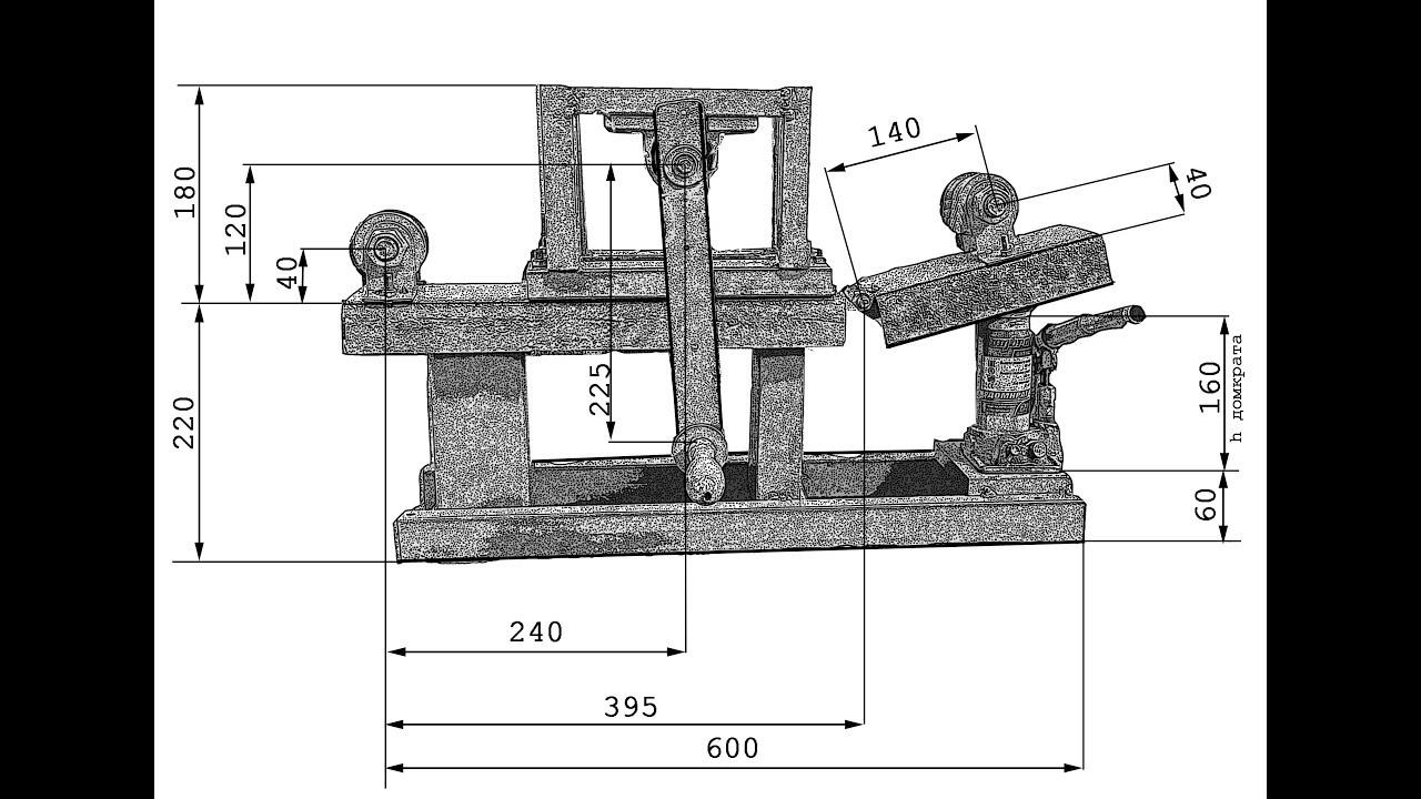 Трубогиб для профильной трубы своими руками с размерами и чертежи