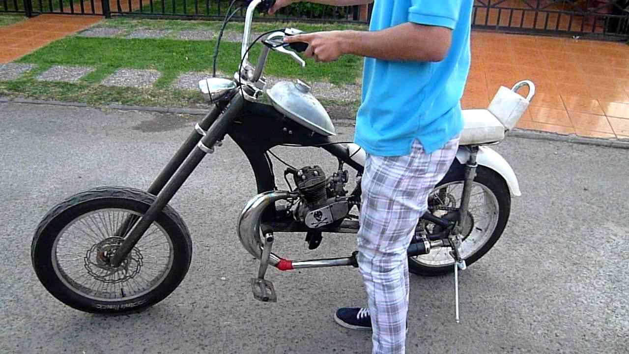 Bicicleta Con Motor Moskito Embrague Centrifugo Youtube