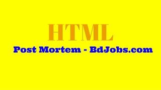 Digitaloy - HTML পোস্ট মর্টেম - bdjobs.com
