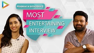 EXCLUSIVE SAAHO INTERVIEW with Prabhas & Shraddha | EPIC Quiz & Rapid Fire | SRK | Fan Questions