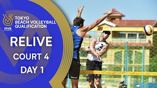 FIVB Tokyo Beach Volleyball Qualification 2019 Court 4 Day 1 LIVE