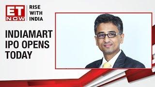 Indiamart IPO opens today | Brijesh Agarwal of IndiaMart To ET NOW