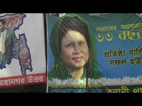 Bangladesh hit by strike on eve of election