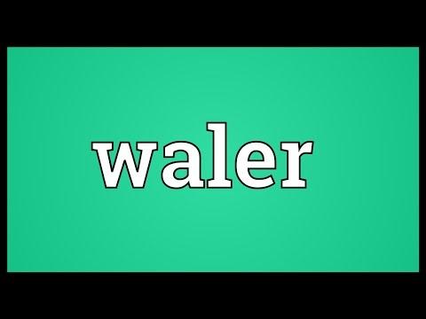 Header of waler