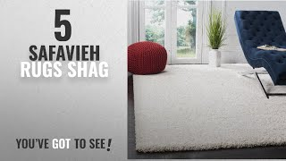"Top 10 Safavieh Rugs Shag [2018]: Safavieh Milan Shag Collection SG180-1212 Ivory Area Rug (8'6"" x"
