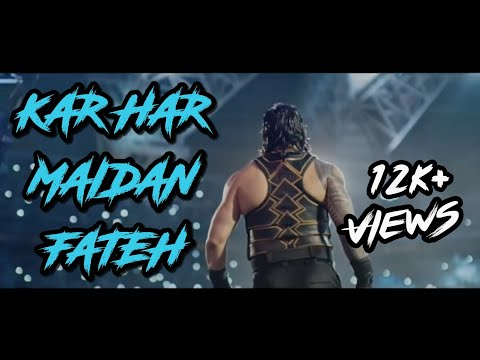 Sanju: Kar Har maidaan fateh || Roman Reigns version ||WWE||Roman reigns|| Mix of music and clips