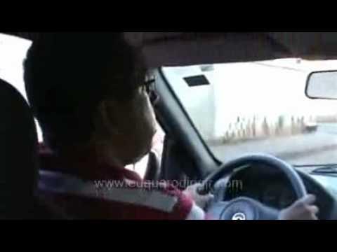 Como fazer uma baliza - Auto Escola - Visão de dentro do carro