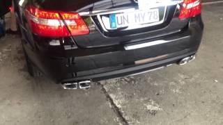 E500 Bi Turbo mit E63 AMG Bi Turbo Auspuff V8