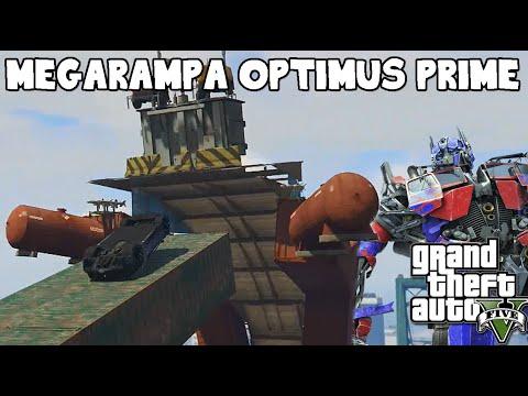 GTA V MEGARAMPA OPTIMUS PRIME SENSACIONAL