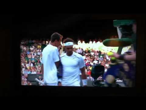 Nadal bumps into Rosol wimbledon 2012