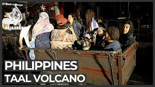 Philippines volcano eruption forces thousands to flee