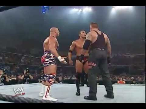 VENGEANCE 2002 The Rock Vs Kurt Angle Vs Undertaker