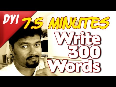 How to write a 300 words high quality, unique article in 7.5 minutes flat-1