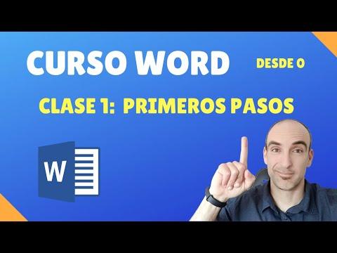 Curso de Word Básico 2018: Clase 1 Primeros pasos