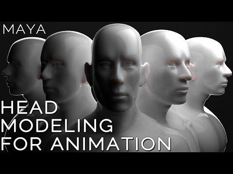 Maya 2015 HEAD MODELING for ANIMATION tutorial