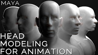 Maya 2015 HEAD MODELING for ANIMATION tutorial