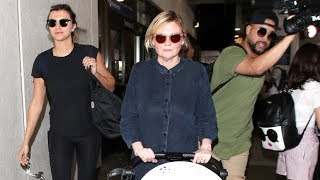 New Mom Kirsten Dunst Glowing at LAX With Infant Son, Ennis