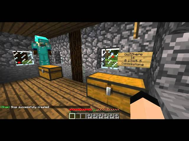 How to use ChestShop Plugin for Minecraft 1.2.5