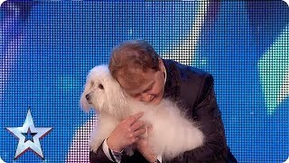 Marc Métral and his talking dog wow the Judges! | Britain