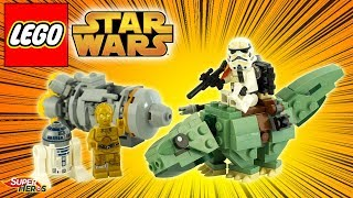 LEGO Star Wars Dewback Sandtrooper Microfighters C3PO R2D2 75228 Review Speedbuild français