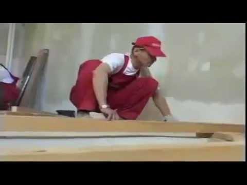 Видео как положить деревянный пол