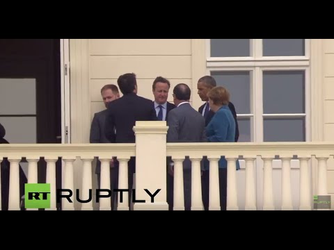 LIVE Merkel meets Obama, Cameron, Renzi and Hollande in Hannover