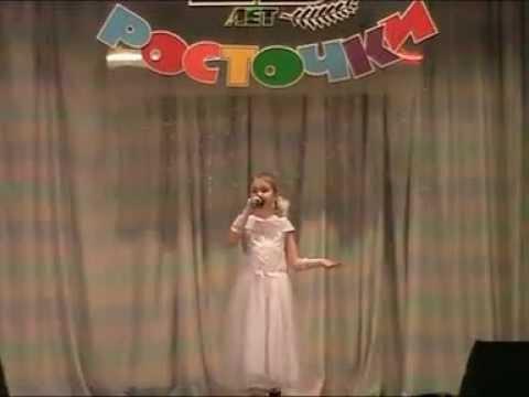 Шумерлинские Росточки, поёт Настя Мясникова 05.04.2012