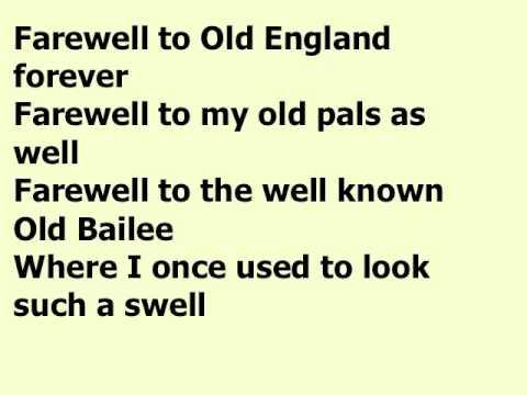 Botany Bay Lyrics in the Key of C