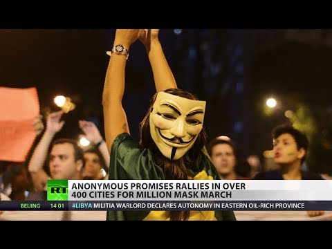 #MillionMaskMarch: Anonymous supporters rally worldwide to protest corruption, police state