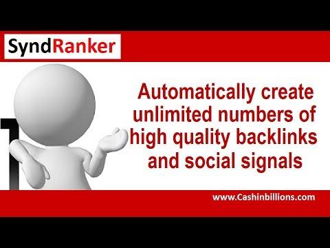Syndranker Review Demo Video   Social SEO Syndication Webinar Training